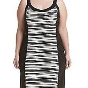R&M RICHARDS striped dress size 12